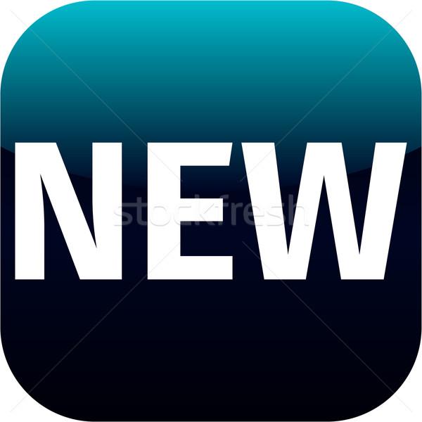 Mavi metin yeni ikon uygulaması telefon Stok fotoğraf © jarin13