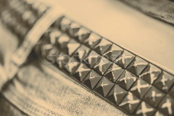belt of metal studs or pyramid Stock photo © jarin13
