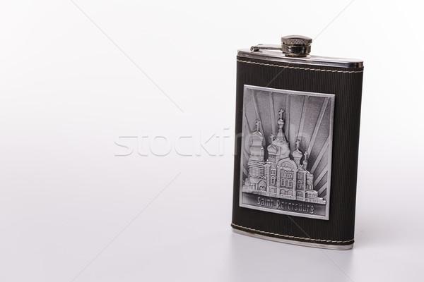 Paslanmaz kalça yalıtılmış beyaz şişe Stok fotoğraf © jarin13