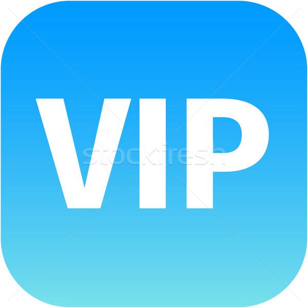 Vip kék ikon háló app internet Stock fotó © jarin13