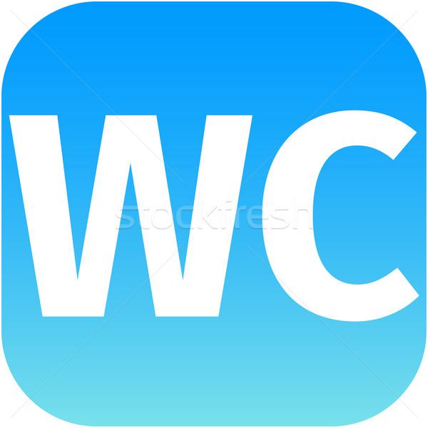 wc toilet blue icon Stock photo © jarin13