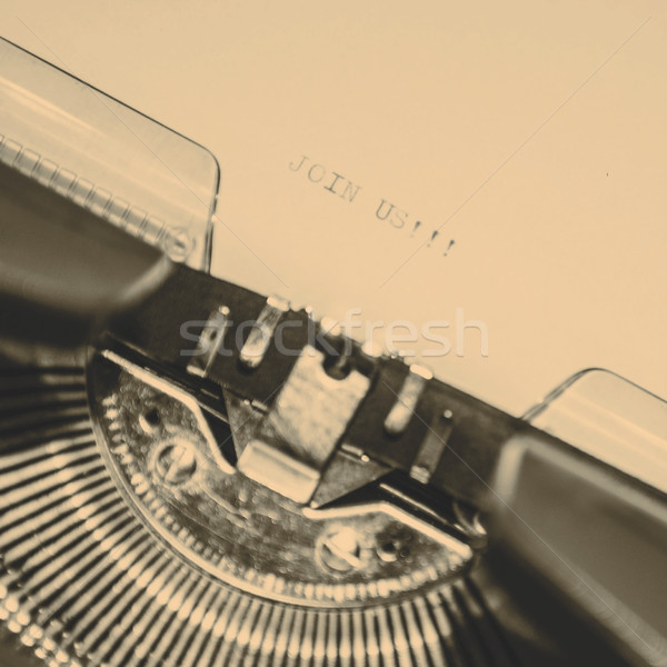 old typewriter with text join us Stock photo © jarin13