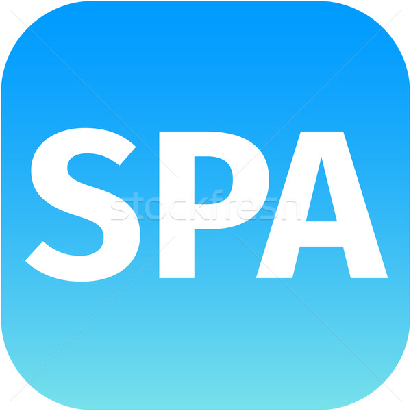 blue spa icon for app Stock photo © jarin13