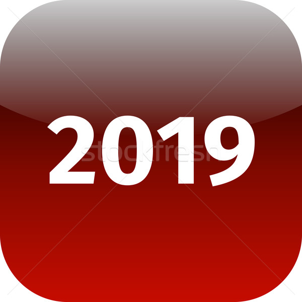 year 2019 red icon Stock photo © jarin13