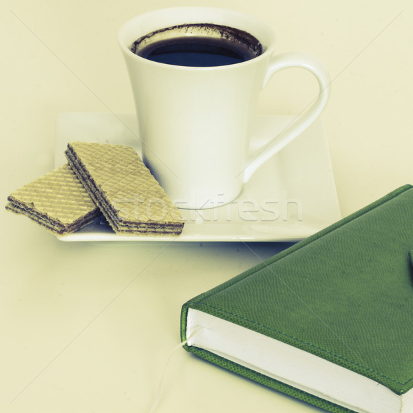 cup of tea with notebook Stock photo © jarin13
