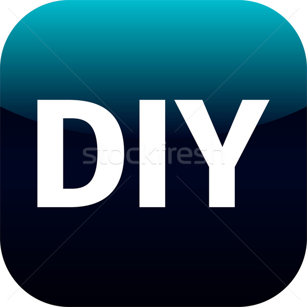 DIY blue icon - do it yourself Stock photo © jarin13