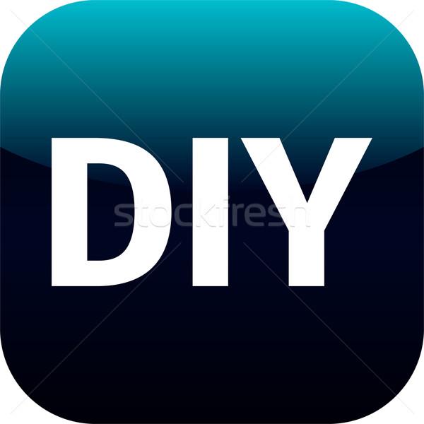 Csináld magad kék ikon csináld magad háló internet Stock fotó © jarin13