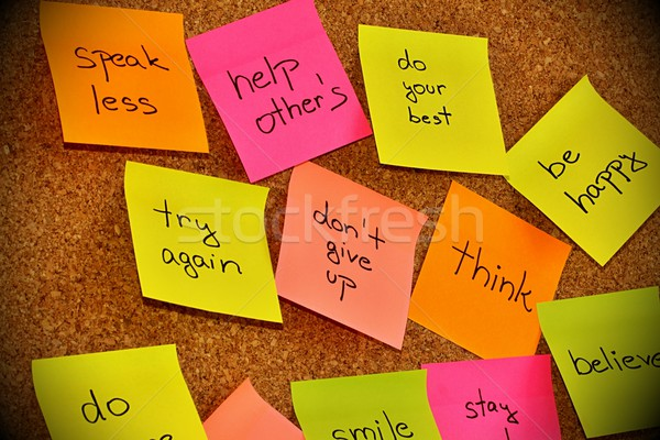 Notice board with sticky note pads Stock photo © jarin13