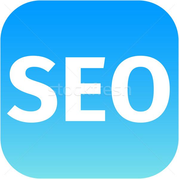 blue seo icon for web app Stock photo © jarin13