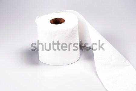 Carta igienica rotolare bianco stanza bagno bagno Foto d'archivio © jarin13