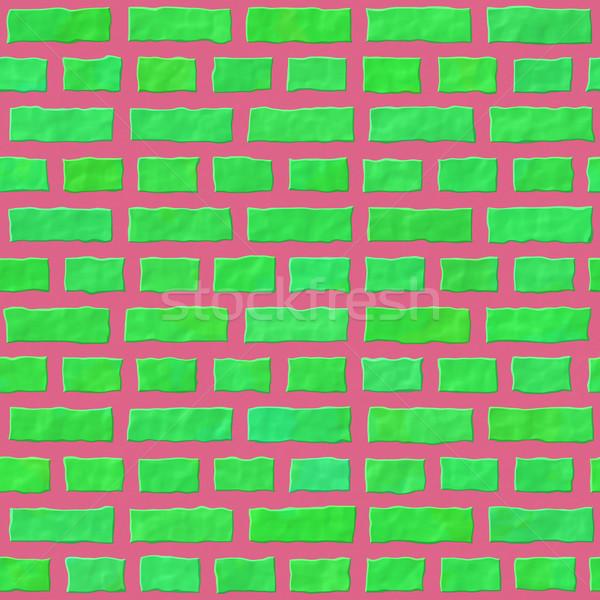 Textura pared color ladrillos cuadros edificio Foto stock © jarin13