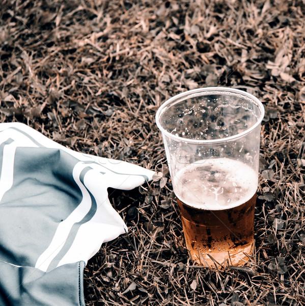 Beer and football dress Stock photo © jarin13