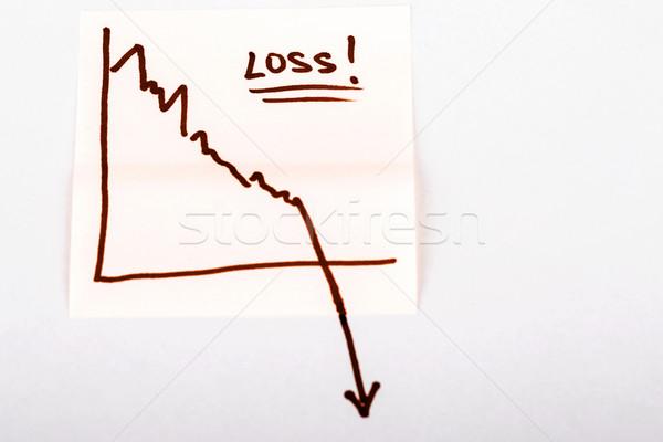Stockfoto: Financieren · zakelijke · grafiek · beneden · verlies