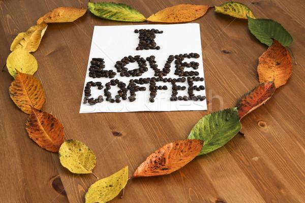 Amor café coração papel abstrato arte Foto stock © jarin13
