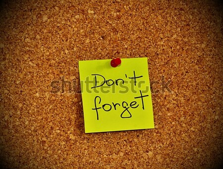Notice board with sticky note pad Stock photo © jarin13
