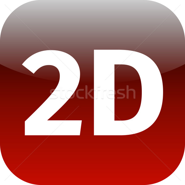 modern red 2D icon Stock photo © jarin13