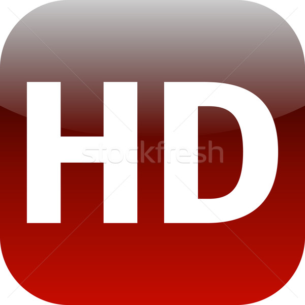 HD - High definition red icon Stock photo © jarin13