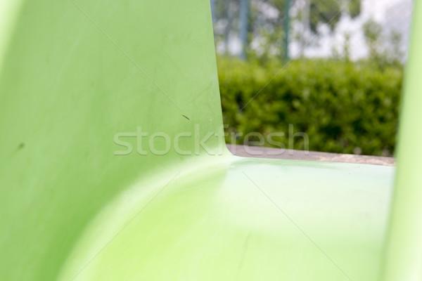 Verde criança deslizar recreio escolas diversão Foto stock © jarin13