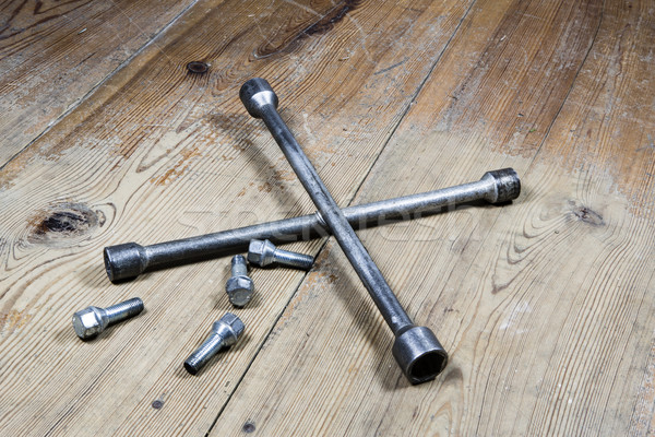old used wrench with screw Stock photo © jarin13
