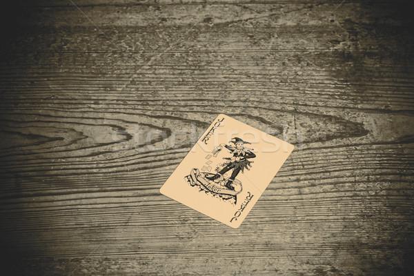 card with joker Stock photo © jarin13