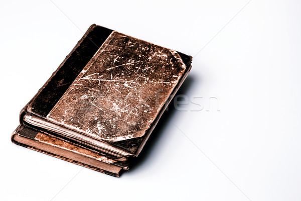 Belo velho livro branco velho marrom Foto stock © jarin13