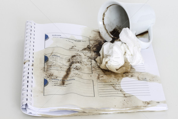 spilled coffee Stock photo © jarin13
