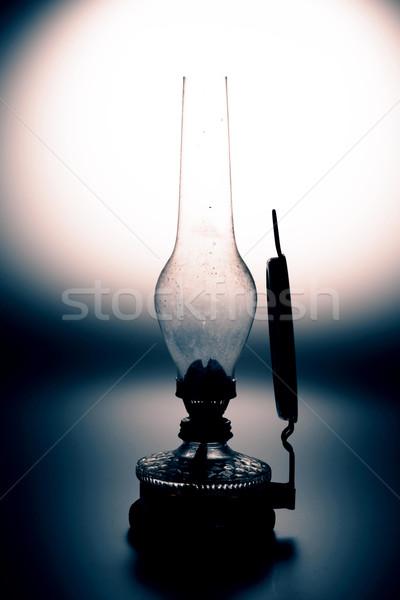 ストックフォト: 古い · ランプ · 孤立した · 白 · ミラー · 家