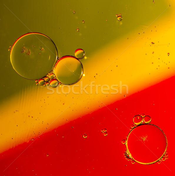 Oleju krople powierzchnia wody kolor wody tekstury Zdjęcia stock © jarin13