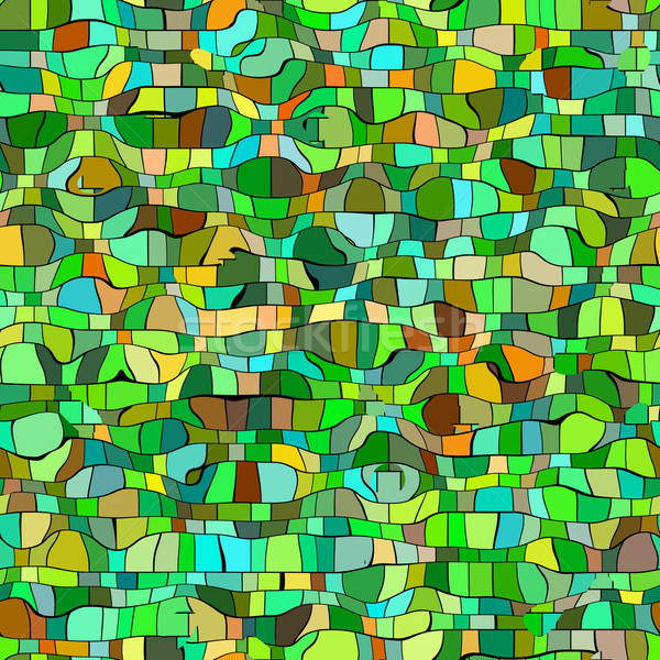 seameless green mosaic texture Stock photo © jarin13