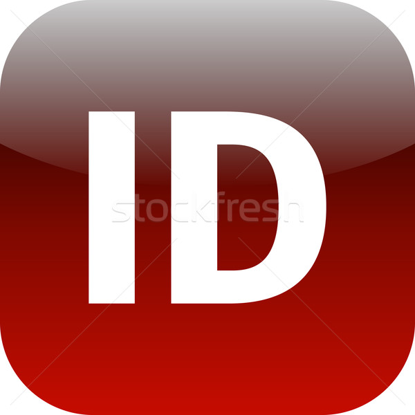 red ID icon for apps Stock photo © jarin13