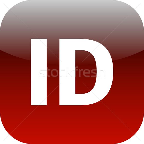 Piros személyi igazolvány ikon appok háló internet Stock fotó © jarin13