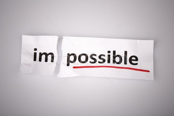言葉 不可能 可能 引き裂かれた紙 白 ビジネス ストックフォト © jarin13