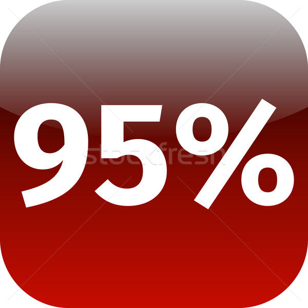 95 percent icon Stock photo © jarin13
