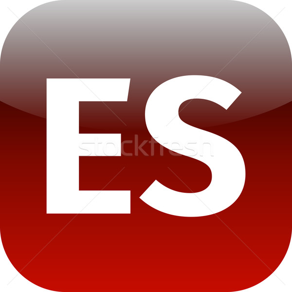 ES domain icon Stock photo © jarin13