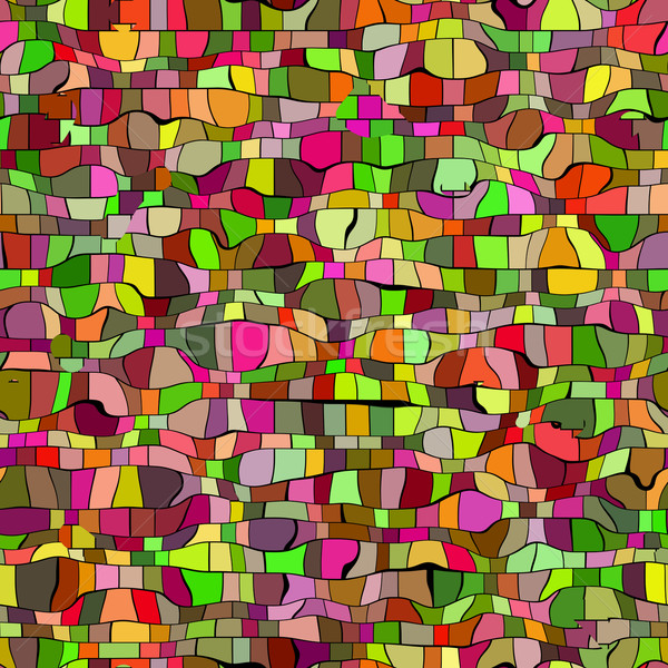 seameless green and red mosaic texture Stock photo © jarin13