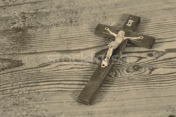 Beautiful old cross with jesus Stock photo © jarin13
