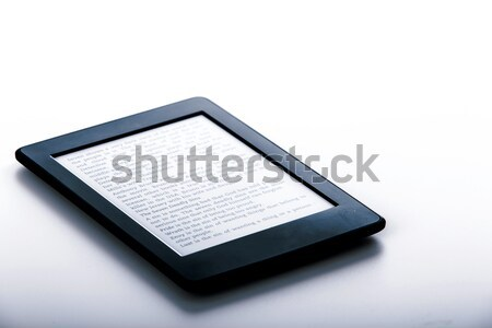 black ebook reader or tablet on white background Stock photo © jarin13