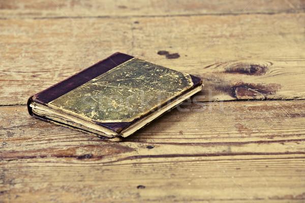 Velho livro belo madeira livros leitura Foto stock © jarin13