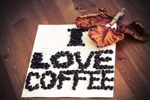 I love coffee Stock photo © jarin13