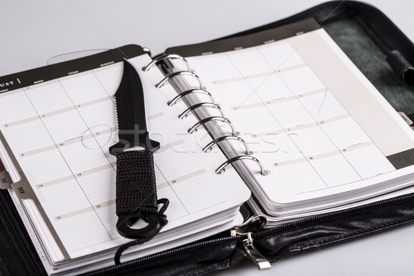 murder planning concept - calendar and knife Stock photo © jarin13