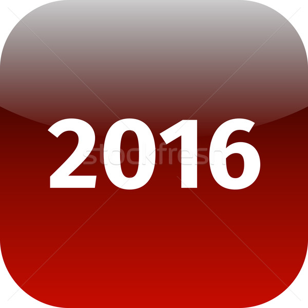 year 2016 red icon Stock photo © jarin13