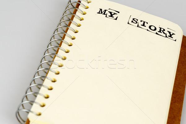 Mijn verhaal boek witte dagboek tekst Stockfoto © jarin13