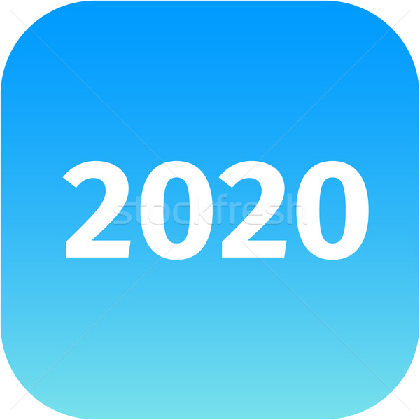 year 2020 blue icon Stock photo © jarin13