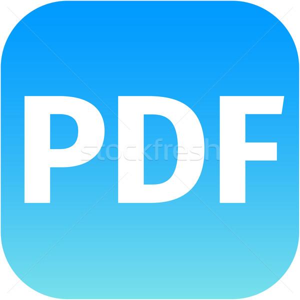 файла pdf знак икона скачать документа Сток-фото © jarin13