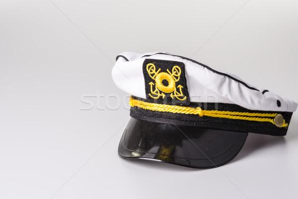 White Nautical hat isolated on white background Stock photo © jarin13