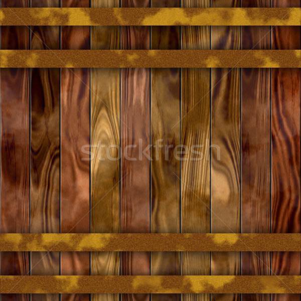 seamless wood barrel texture Stock photo © jarin13