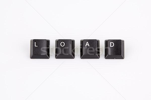 Caricare parola scritto nero computer pulsanti Foto d'archivio © jarin13