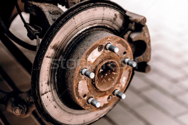 Neumáticos rueda invierno primavera hombre herramientas Foto stock © jarin13