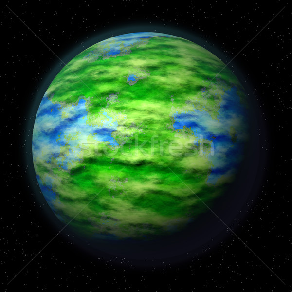 illustration of green planet Stock photo © jarin13