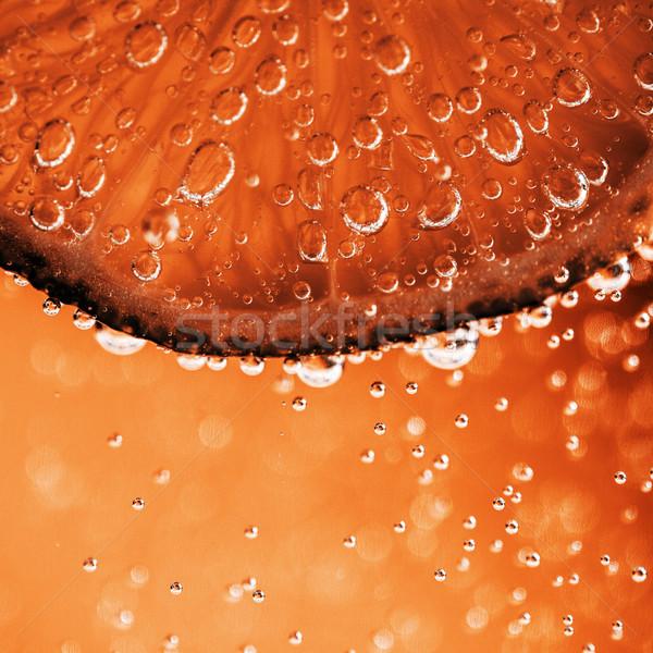 Cal bubbles belo fresco fatia água Foto stock © jarin13